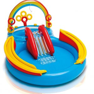 Intex Inflatable Rainbow Ring Water Play Centre, Multi Color